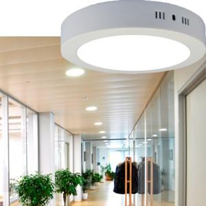 Foco LED circular sobrepuesto 18W